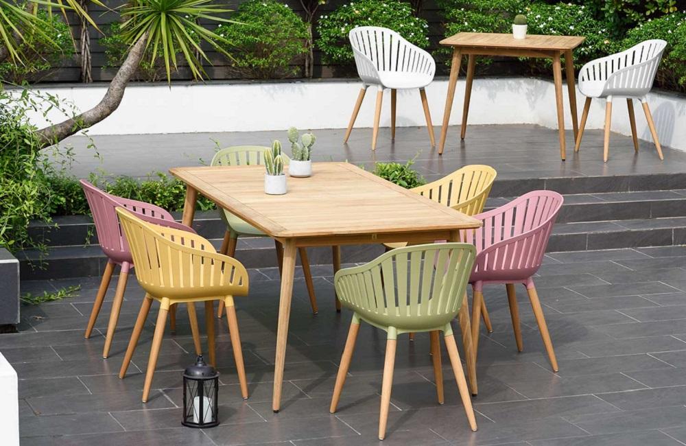 Muebles de terraza sostenibles, colección Nassau