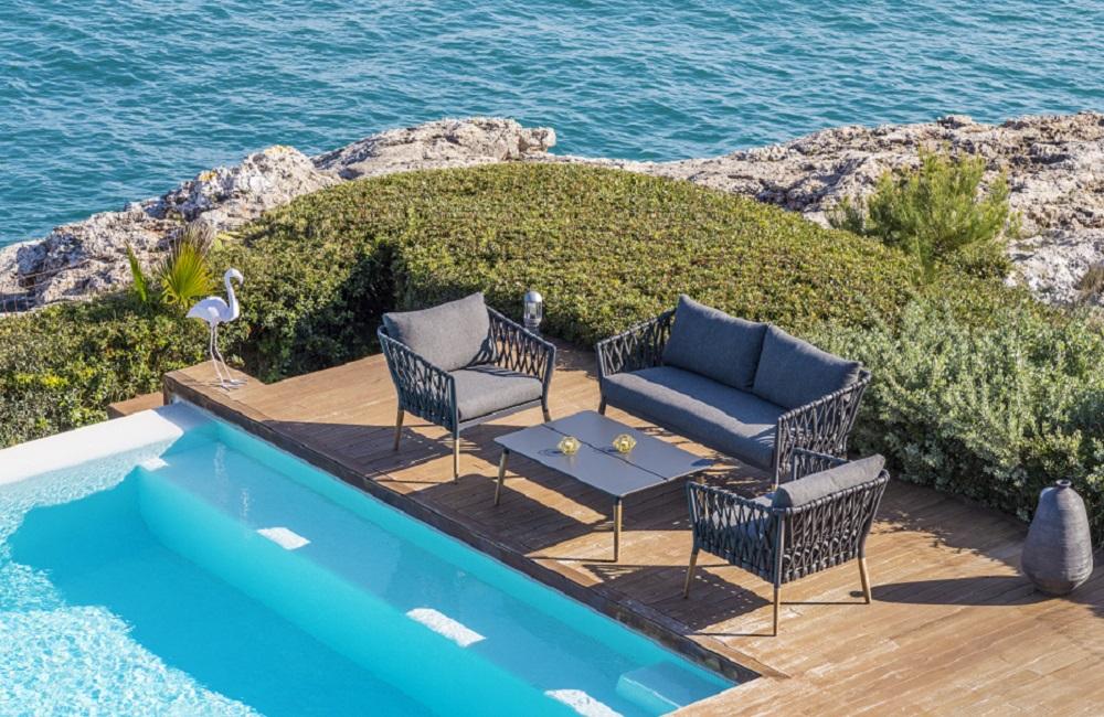 Muebles de terraza con piscina, tendencias