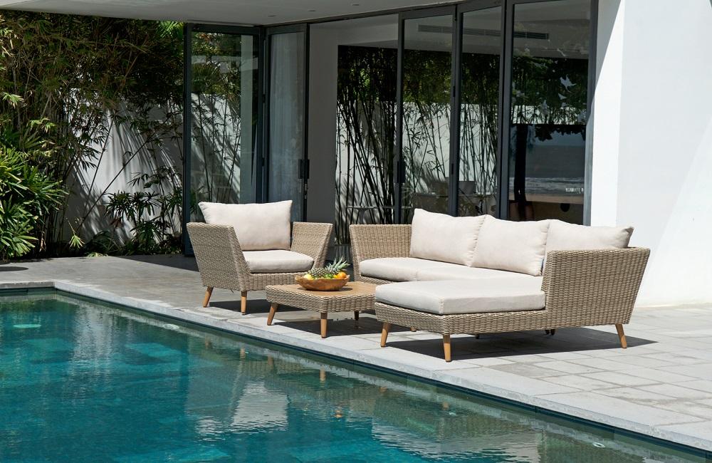 Muebles para terraza de ratán sostenible