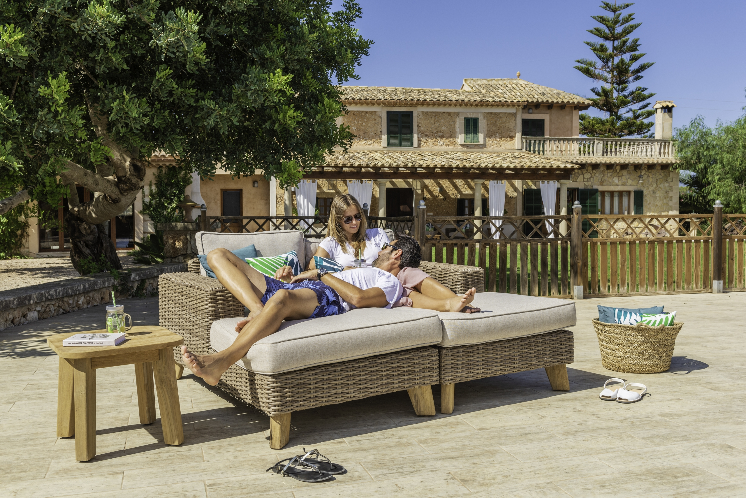 Muebles de jardín concienciados con el medio ambiente